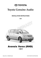 toyota audio 2001 avensis verso manuals rh manualslib com toyota verso user manual pdf toyota verso user manual download