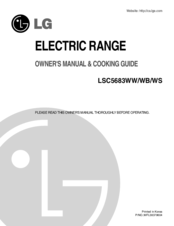 LG LSC5683WS Owner's Manual & Cooking Manual