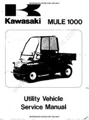 Kawasaki mule 1000 Manuals on