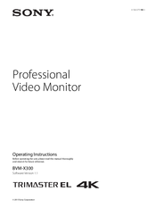 Sony BVM-X300 Operating Instructions Manual