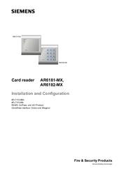 Siemens AR6182-MX Installation And Configuration Manual