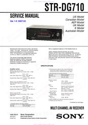 sony str dg710 manuals rh manualslib com STR-DG710 Review Sony STR- DG510 Receiver