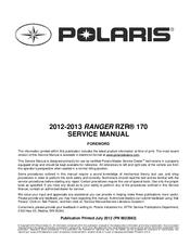 polaris ranger rzr 170 service manual pdf download rh manualslib com 2013 polaris rzr 570 owners manual 2013 polaris rzr 800 service manual