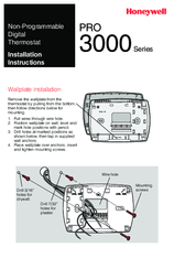 Honeywell Pro 3000 Series Installation Instructions Manual Pdf Download