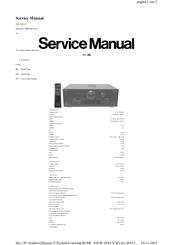 Technics SA-DA15 Servise Manual