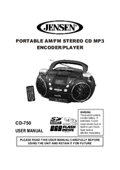 jensen cd 750 manuals rh manualslib com Jensen CD Boombox Red Jensen Radio CD Player Clock