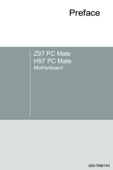 Support pour Z97 PC Mate  Motherboard  The world leader