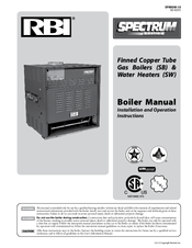 rbi spectrum series manuals rh manualslib com RBI Dominator Series Gas Boilers RBI Boiler Replacement Parts
