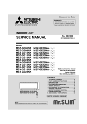 mitsubishi electric msz ge12na manuals rh manualslib com Msz-Ge12na- 9 mitsubishi electric mr slim msz-fe12na manual