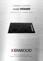 Kenwood HCE600 Nstructions For Use