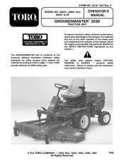 toro 30243te groundsmaster 223d manuals rh manualslib com Toro 223D Groundsmaster Specification Toro Groundsmaster Service Manual