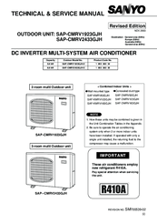 sanyo sap cmrv1923gjh manuals Sanyo Mini Split Service Manual sanyo air conditioner service manual