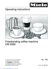 Miele CM 5000 Operating Instructions Manual