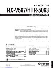 Yamaha HTR-5063 Service Manual