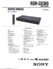 sony rdr gx360 manuals rh manualslib com GX160 Spark Plug Honda GX360 Engine