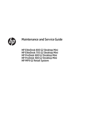 Hp ProDesk 600 G2 Desktop Mini Manuals