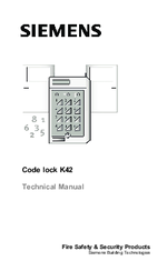 Siemens K42 Technical Manual