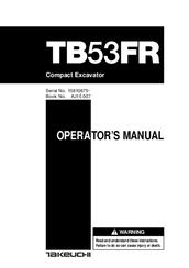 takeuchi tb53fr operator s manual pdf download rh manualslib com Takeuchi Mini Excavator Specs Takeuchi TB125 Excavator