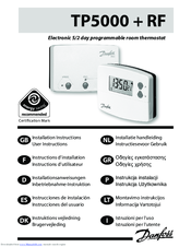 Danfoss tp5000 rf si manuals.