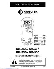 greenlee dm 300 manuals rh manualslib com Operators Manual Manuals in PDF