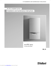 Manuals and User Guides for Vaillant ECOTEC PLUS VU 120. We have 1 Vaillant ECOTEC PLUS VU 120 manual available for free PDF download: Installation And ...