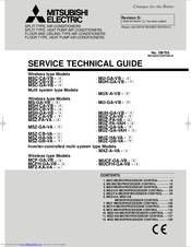 Mitsubishi Electric MUH-GA25VB Service Technical Manual