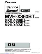 Pioneer Mvh X365bt Manuals Manualslib