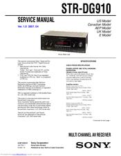 sony str dg910 manuals rh manualslib com sony str dg910 manual pdf sony str-dg910 specs