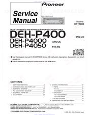Pioneer DEH-P4000 Service Manual