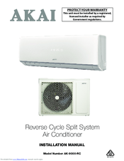 akai ak 9000 rc installation manual pdf download rh manualslib com akai air conditioner owner's manual Whirlpool Portable Air Conditioner