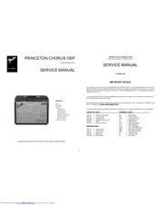 FENDER PRINCETON CHORUS DSP SERVICE MANUAL Pdf Download. on