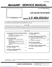 sharp aquos lc 80le632u manuals rh manualslib com sharp aquos lc-80le632u manual sharp lc-80le632u user manual