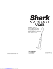 Shark VX63 SV800C Owner's Manual