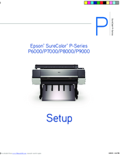 Epson SureColor P9000 Instruction Manual