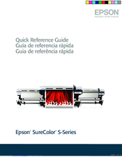 Epson SureColor S50675 Quick Reference Manual
