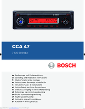Bosch CCA 47 Operating And Installation Instructions