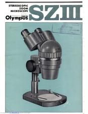 olympus sz iii manuals rh manualslib com olympus bx60 microscope user manual olympus bx41 microscope manual