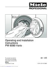 miele pw 6080 vario manuals rh manualslib com miele professional pw 5065 service manual miele pw 6065 service manual