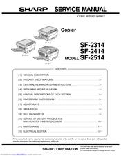sharp sf 2314 service manual pdf download rh manualslib com