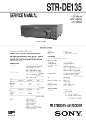 Sony STR-DE135 Service Manual