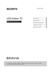 Sony kdl-22bx300 bravia bx series lcd television manuals.