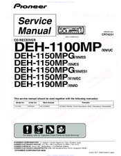 Pioneer DEH-1100MP Service Manual