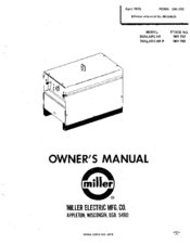 MILLER DIALARC HF OWNER'S MANUAL Pdf Download