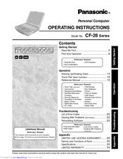 Panasonic CF-28 Operating Instructions Manual