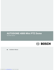 Bosch AUTODOME 4000 mini Installation Manual