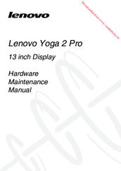 lenovo yoga 2 pro hardware maintenance manual pdf download rh manualslib com lenovo yoga 2 11 service manual lenovo yoga 2 service manual