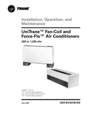 Trane Force-Flo Manuals