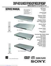 sony dvp ns53p manuals rh manualslib com DVD Precio DVP Sony Ns53p Remote Code Sony DVP Ns57p