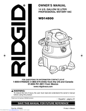 ridgid wd14800 manuals rh manualslib com Ridgid WD1450 Review Ridgid WD1450 Review