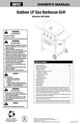 Blue Rhino Backyard Grill GBC1406W Owneru0027s Manual